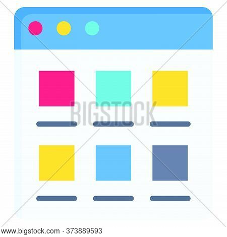 User Interface, Telecommuting Or Remote Work Related Icon, Vector Illustration