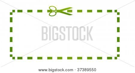 Eco green coupon with clipping path and copy space.