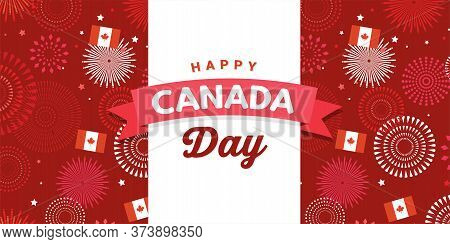 Canada Day Celebration. Canada Independence Day. 1st Of July. Happy Canada Day Greeting Card. Celebr
