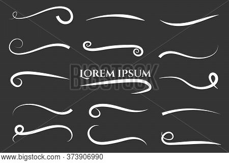 Texting Tails. Typography Tails Shape For Football Or Athletics Sport. Tupography On White Black Bac