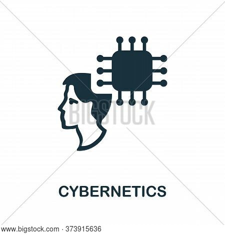 Cybernetics Icon. Creative Simple Design From Artificial Intelligence Icons Collection. Filled Cyber