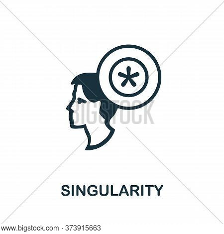 Singularity Icon. Creative Simple Design From Artificial Intelligence Icons Collection. Filled Singu