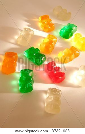 bears gummi candies multi colors for kids backgrounds poster