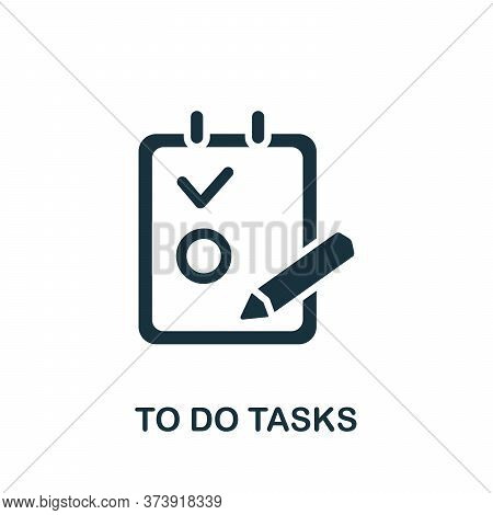 Todo Tasks Icon. Simple Element From Productive Work Collection. Creative Todo Tasks Icon For Web De
