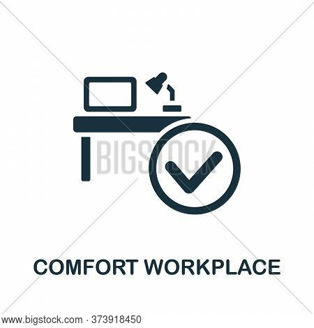 Comfort Workplace Icon. Simple Element From Productive Work Collection. Creative Comfort Workplace I