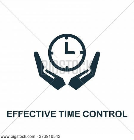 Effective Time Control Icon. Simple Element From Productive Work Collection. Creative Effective Time