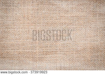 Jute Hessian Sackcloth Woven Burlap Texture Pattern Background In Old Aged Yellow Beige Cream Gold B