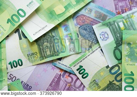 Background With Euro Money Bills. Euro Money. Euro Cash Background. Euro Money Banknotes
