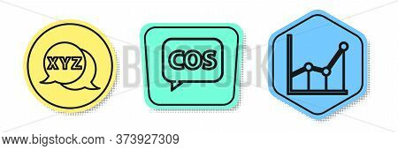Set Line Calculator, Tablet With Calculator And Sigma Symbol. Colored Shapes. Vector