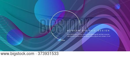 Graphic Fluid. Abstract Flow Lines Poster. Color Futuristic Banner. Vibrant Business Illustration. G