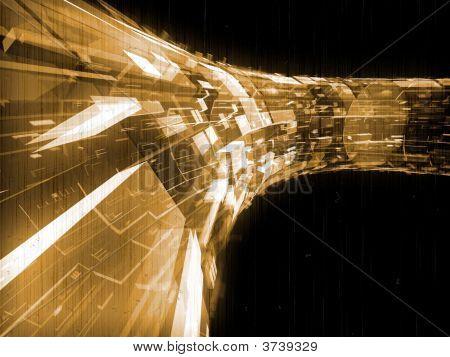 Fantasy Alien Transparent Futuristic Constructions