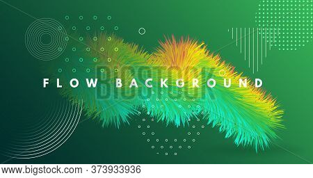 Colorful Fluid Background. 3d Dynamic Movement. Gradient Wallpaper. Color Bright Fluid Background. G