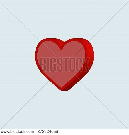 Heart Applique Background. Vector Illustration For Your Design In Flat 3d Style