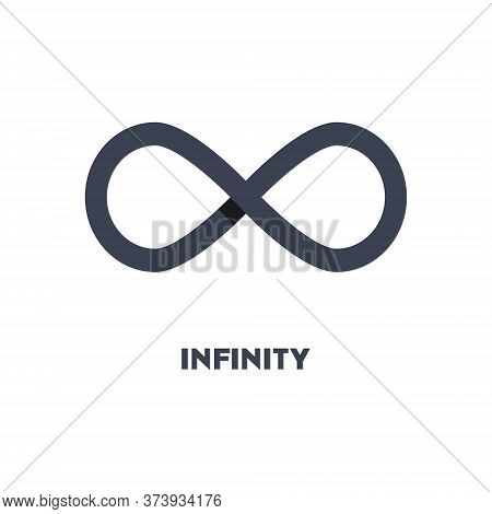 Limitless Sign Icon. Infinity Symbol Logo Isolated On White Background