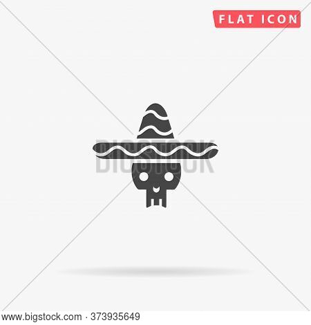 Day Of The Dead Flat Vector Icon. Hand Drawn Style Design Illustrations.