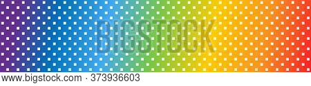 Square Rainbow Background. Square Pattern In Panorama View. Square Abstract Pattern Rainbow Backgrou