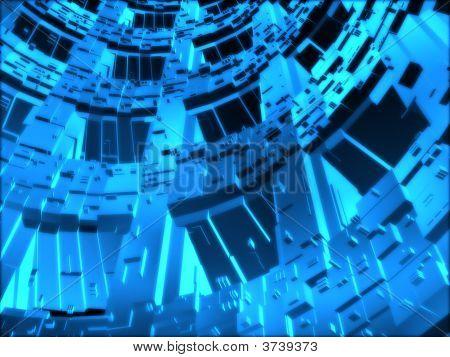 Fantasy Alien Blue Unknown Computer Generated Futuristic Constructions