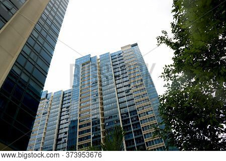 Country -singapore Date 05/10/2020 View Of Condominium With Glass High Rise Building Skyscraper Comm