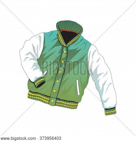 Hoodie Shirts Template.jacket Design, Sportswear Track Front View Isolated On A White Background.
