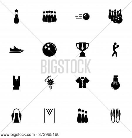 Bowling Icon - Expand To Any Size - Change To Any Colour. Perfect Flat Vector Contains Such Icons As