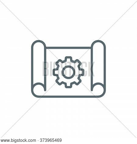 Project Management Vector Icon Symbol Isolated On White Background