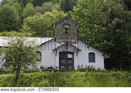 Chamrousse, France, June 21, 2020 : Notre-dame Des Neiges Little Chapel In The Forest.