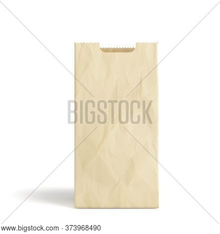 Empty Paper Bag For Products 3d Render On A White Background