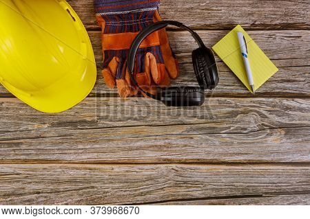 Industry Worker Protective Workwear Safety Standard Construction Safety Earmuffs Leather In Safety H