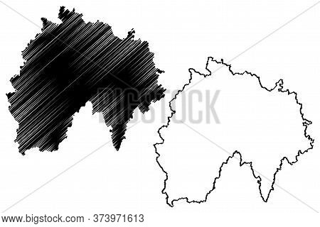 Cantal Department (france, French Republic, Auvergne-rhone-alpes Region, Ara) Map Vector Illustratio