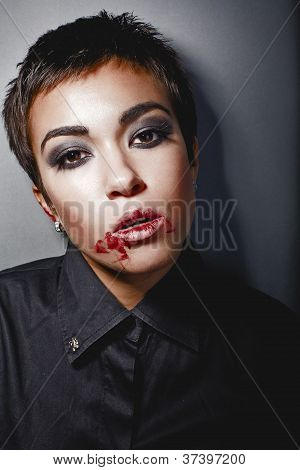 Girl With A Bloody Lip