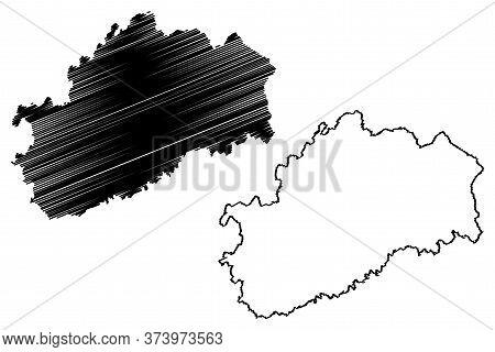 Haute-saone Department (france, French Republic, Bourgogne-franche-comte Region, Bfc) Map Vector Ill