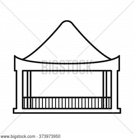 Vector Design Of Stilts And Wood Symbol. Collection Of Stilts And Patio Stock Vector Illustration.