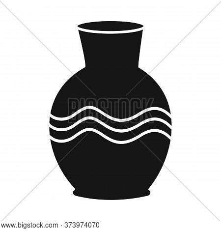 Vector Illustration Of Vase And Clay Symbol. Graphic Of Vase And Ceramic Vector Icon For Stock.