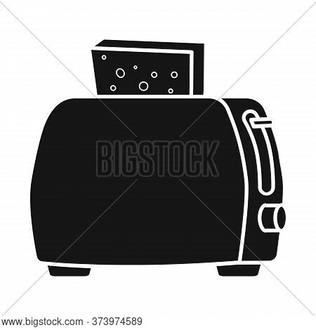 Isolated Object Of Toaster And Toast Sign. Web Element Of Toaster And Bread Stock Symbol For Web.