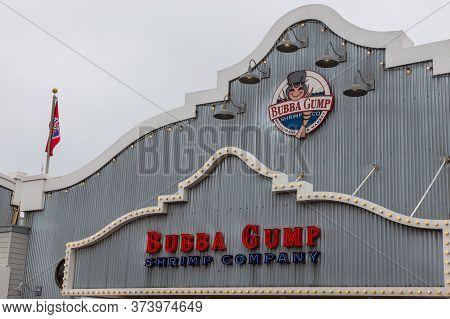 Santa Monica, California, Usa- 12 June 2015: View Of The Restaurant Building, Bubba Gump Shrimp Co.