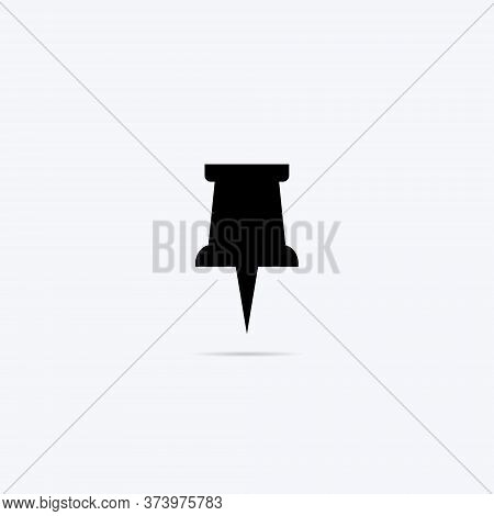 Paper Pin Icon Vector In Trendy Style. Pushpin Symbol Illustration