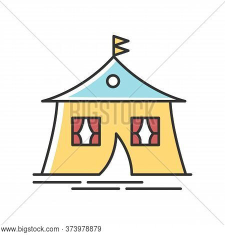 Marquee Tent Rgb Color Icon. Camping Site. Arabic Tent. Living Accommodation. Camp. Housing Facility