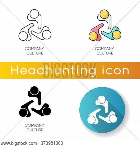 Company Culture Icon. Linear Black And Rgb Color Styles. Internal Corporate Ideology, Professional B