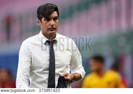 Milano (italy) 28th June 2020. Italian Serie A. Ac Milan Vs As Roma.  Paulo Fonseca Head Coach Of As