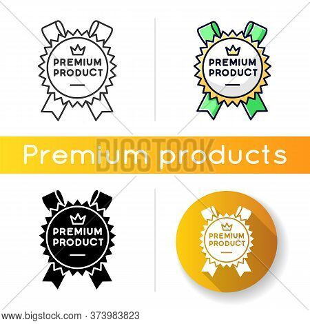 Premium Product Icon. Linear Black And Rgb Color Styles. Top Class Product And Service, Brand Equity