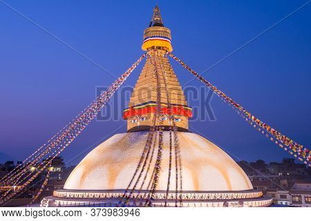 Beautiful View Of Boudhanath Stupa The Largest Stupas In The World Located In Kathmandu The Capital