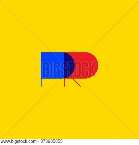 Pr Icon, Public Relations Logo, Creative Character Of Letters. Vector Illustration