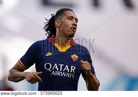 Milano (italy) 28th June 2020. Italian Serie A. Ac Milan Vs As Roma.  Chris Smalling Of  As Roma  .