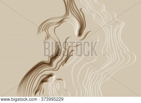 Mountain Hiking. Map Line Of Topography. Vector Abstract Topographic Map Concept With Space For Your