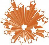 Retro style star burst in vector illustration. poster
