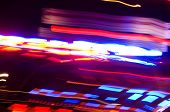 an abstract view of police car lights. poster