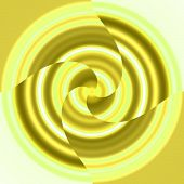 it's a yellow spinning doo hickey fan blade thing poster