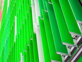 Acrylic Plastic Sheet Interior Slope Bottom And Apple Green Moss