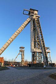 Headframes Of The C-mine In Genk, Belgium