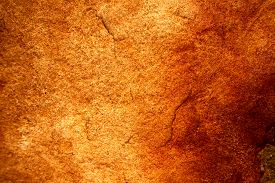 Ancient Red Yellow Granite Stone Surface Of Cave For Interior